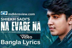 Na Evabe Na Lyrics (না এভাবে না) Sheikh Saadi New Song 2020