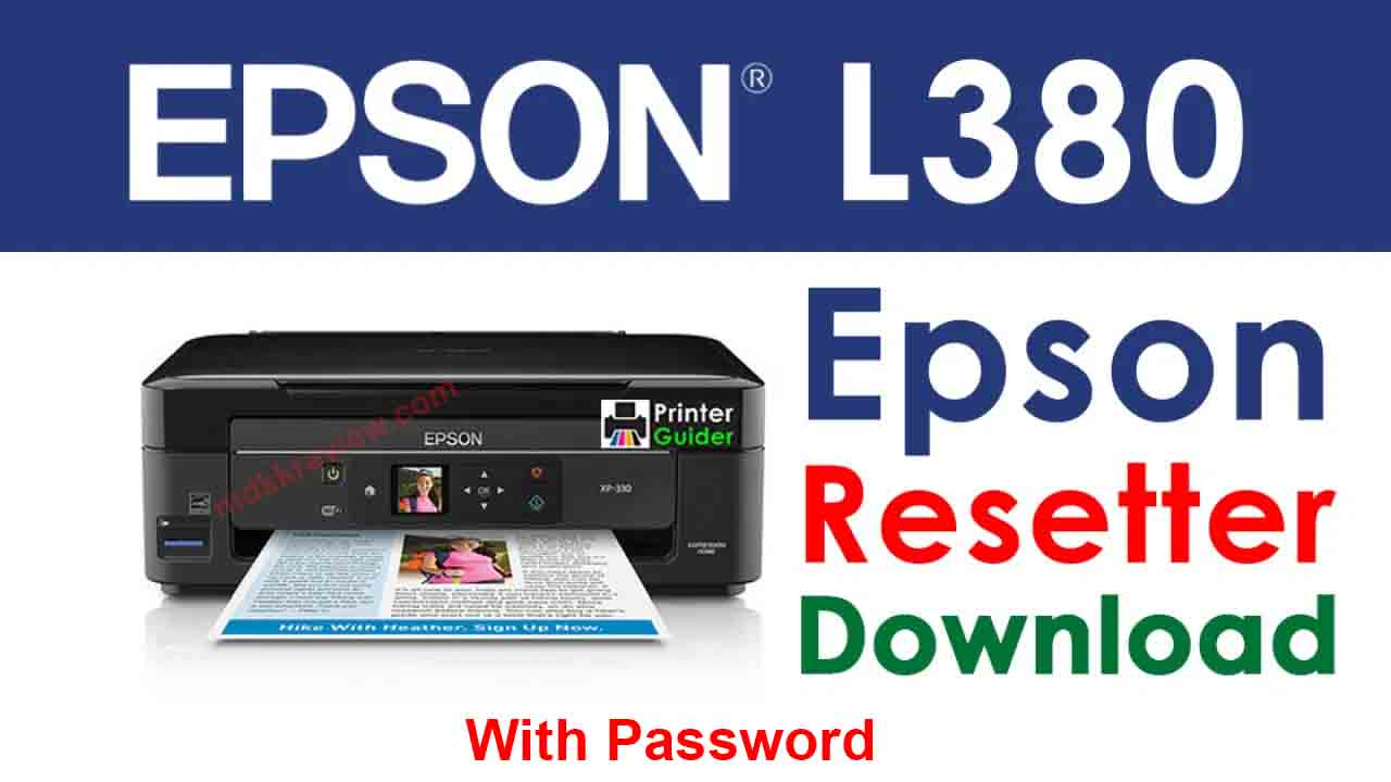 Epson L380 Resetter Tool Download For Free