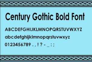 Century Gothic Bold Font Download For Free