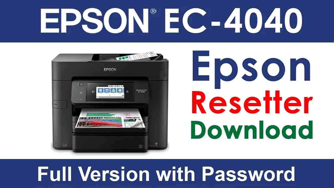 Epson WorkForce Pro EC-4040 Resetter Tool Download For Free