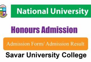 Savar University College Honours 1st Year Admission
