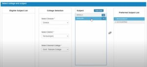 Select College and Subjects