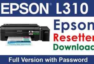 Epson L310 Resetter Tool Download For Free
